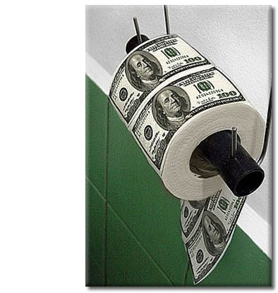 US dollar toilet roll