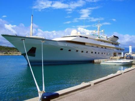 The super yacht Dubai