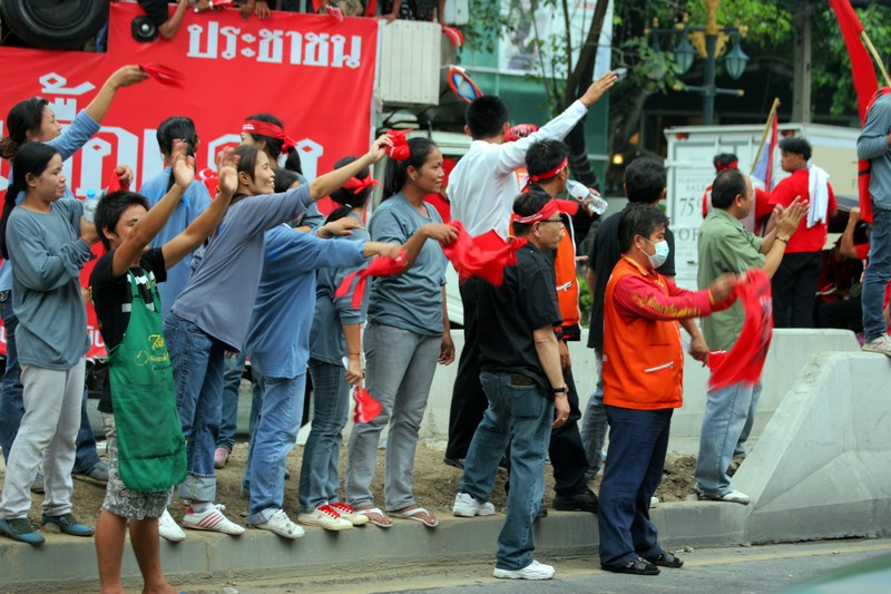Construction workers welcome the reds
